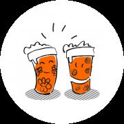 Rekwup propose à la vente des gobelets réutilisables personnalisés à l'image de vos évènements